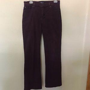 NYDJ Sarah bootcut jeans merlot purple size 10P